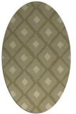 rug #613261 | oval light-green animal rug
