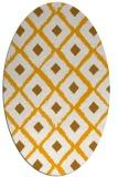 rug #613273 | oval light-orange rug