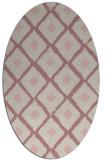 rug #613277 | oval pink animal rug