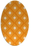 rug #613281 | oval light-orange animal rug