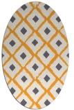 rug #613285 | oval white animal rug