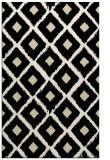 rug #613365 |  blue-green retro rug