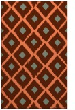 rug #613489 |  red-orange retro rug