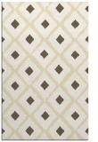 rug #613581 |  yellow retro rug