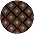 rug #613657   round brown retro rug