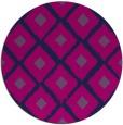 rug #613669 | round blue animal rug