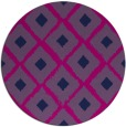 rug #613672   round retro rug