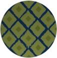 rug #613677 | round blue animal rug