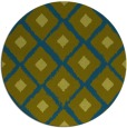 rug #613701 | round blue-green animal rug