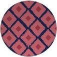 rug #613733   round blue-violet retro rug