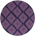rug #613737 | round purple animal rug