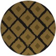 rug #613757 | round mid-brown retro rug