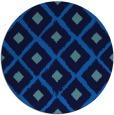 rug #613809 | round blue animal rug