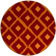 rug #613829 | round red-orange retro rug