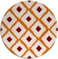 rug #613833 | round orange retro rug