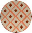 rug #613837 | round beige animal rug