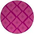 rug #613849 | round pink retro rug