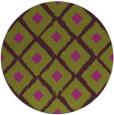 rug #613869 | round purple animal rug