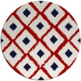 rug #613881 | round red animal rug