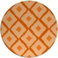 rug #613901 | round red-orange animal rug
