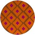 rug #613905   round red-orange animal rug