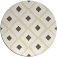 rug #613933 | round yellow retro rug