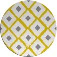 rug #613941 | round yellow retro rug