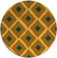 rug #613945 | round light-orange retro rug