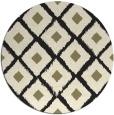 rug #613949 | round black retro rug