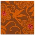 rug #618129   square red-orange natural rug