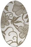 rug #618217 | oval beige natural rug