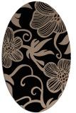 rug #618229 | oval black natural rug