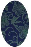 rug #618249 | oval blue-green natural rug