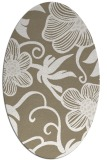 rug #618357 | oval mid-brown natural rug
