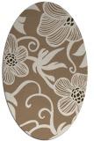 rug #618369 | oval mid-brown natural rug