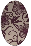 rug #618373 | oval pink natural rug