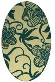 rug #618421 | oval yellow rug