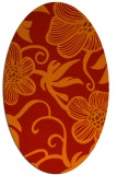 rug #618461 | oval red natural rug