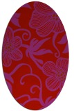 rug #618469 | oval red natural rug