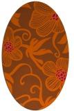 rug #618481 | oval red-orange natural rug