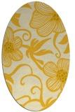 rug #618505 | oval yellow natural rug