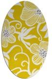 rug #618517 | oval yellow rug