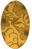 rug #618521 | oval yellow natural rug