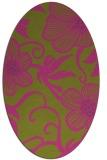 rug #618545 | oval light-green rug
