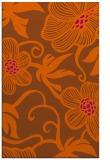 rug #618833 |  red-orange natural rug