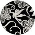 rug #618925 | round black natural rug