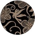 rug #618933 | round black natural rug