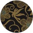 rug #618941 | round black natural rug