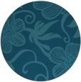 rug #618969 | round blue-green natural rug