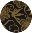 rug #619037 | round black natural rug